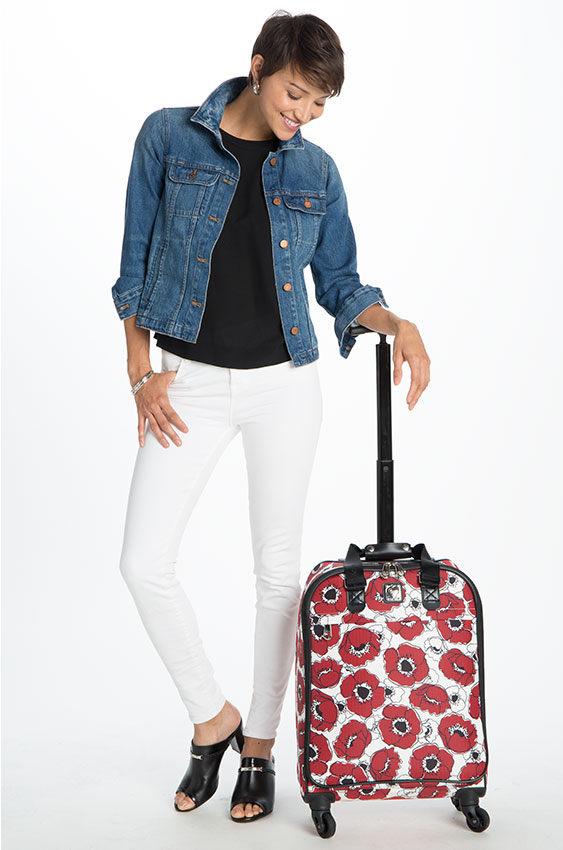 Model Wearing, Travel-Friendly Accessories, Wheeled Weekender