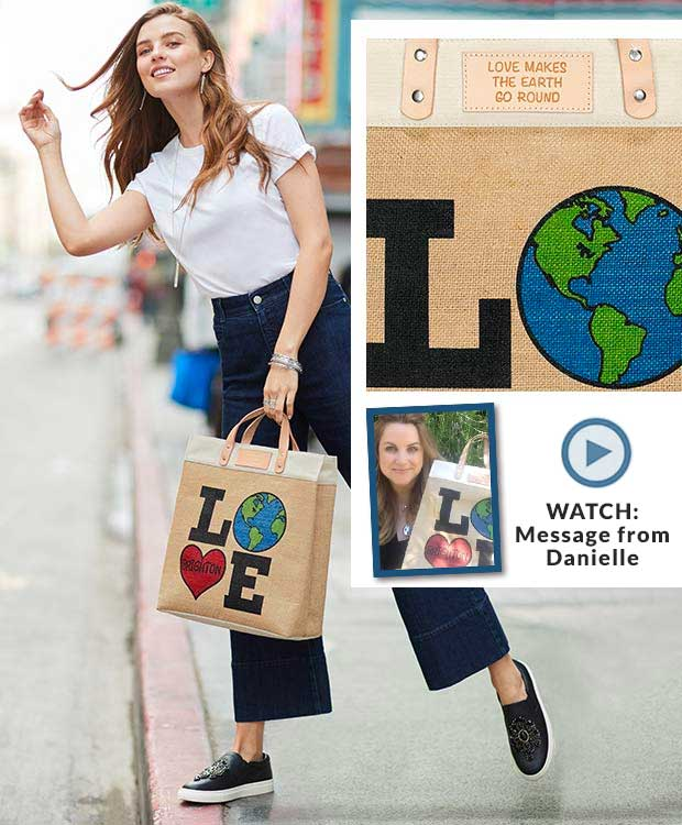 Photo Of model with The Love the Earth Tote