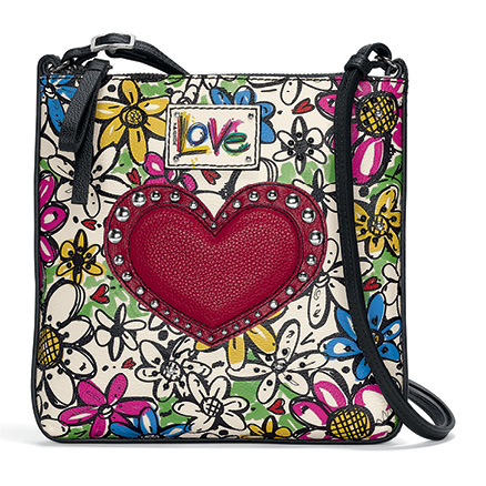 Scribble Garden Messenger handbag