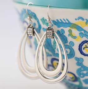 photo with Sparkle Drop Earrings