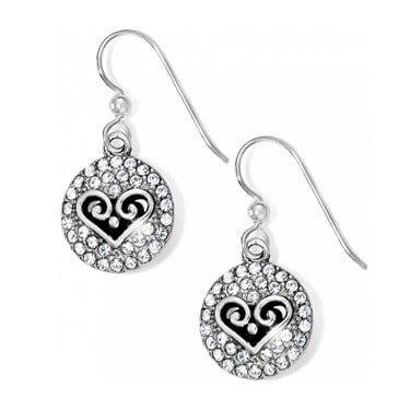 Circle earing with heart diamonds around