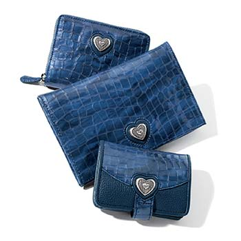 Small leather goods in French Blue
