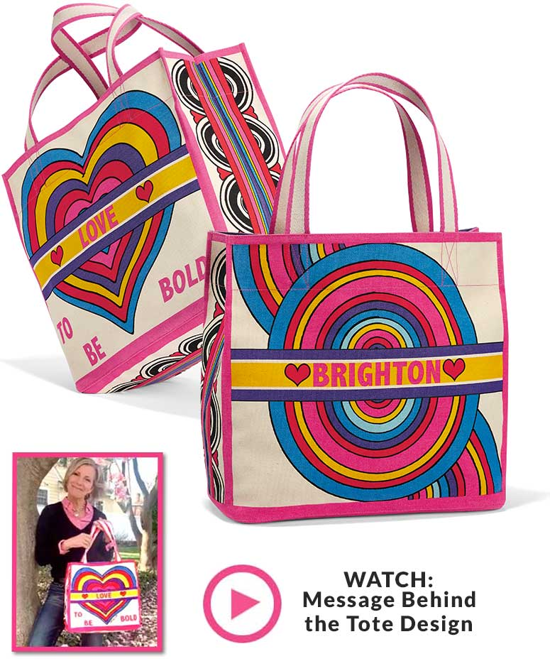Photo Of The Back And The Front Of The Rainbow Bright Tote