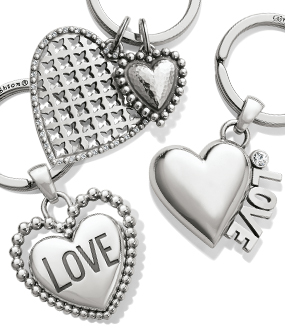 Heart Key Chains