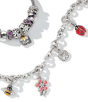 Floral and butterfly Charms