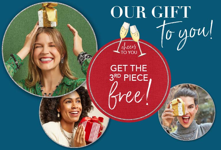 Buy two jewelry and get one free