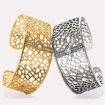 Fiji Cuff Bracelets in Silver and Gold