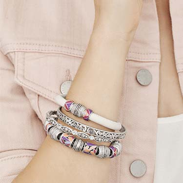 Cuff bracelet from the Bali Collection