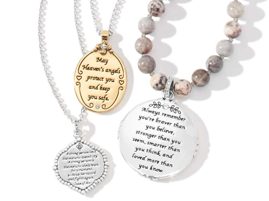 Jewelry with meaningful inscriptions