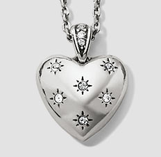 Close-up of heart necklace