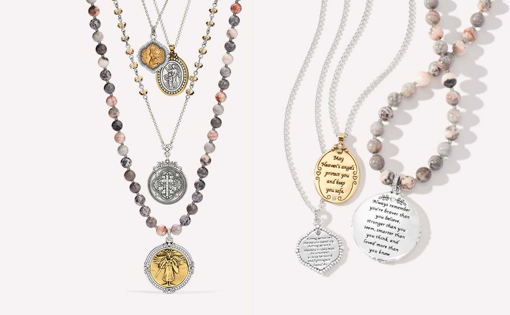 meaningful jewelery with inscriptions on it