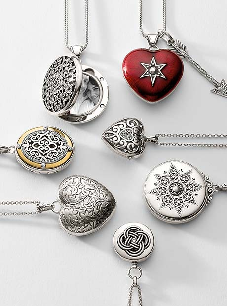 Display of Brighton Love Lockets