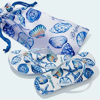 Flip Flops with nautical print