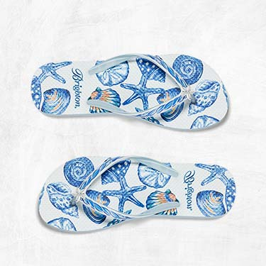 Pair of Coastal blue seashell sandals