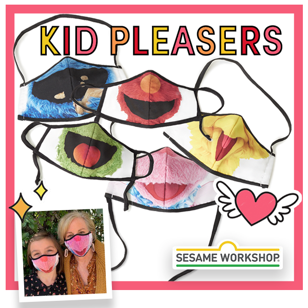 Sesame Street character face mask collection - kid pleasers