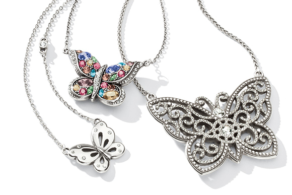 Close Up Of Butterfly Necklace