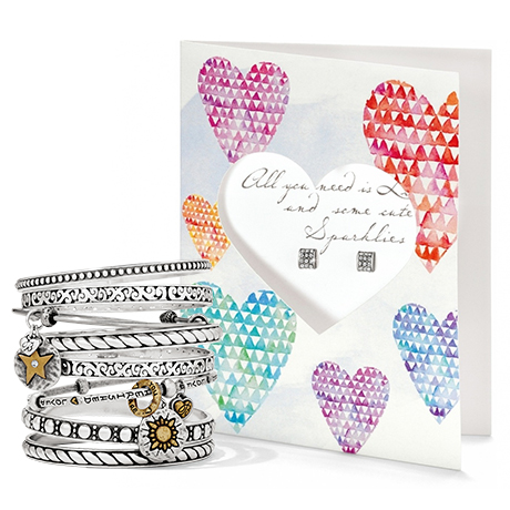 Farmers Market Bangle & Pretty Petite Love Card Earrings