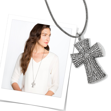 Model & Anatolia Cross Convertible Reversible Necklace