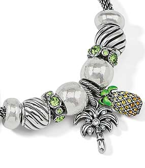 charm bracelets with summer pineapple charms