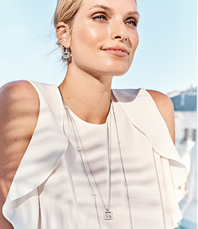 Model Wearing Meridian Jewelry