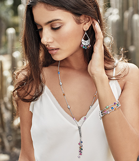 COLORFUL JEWELRY Live life in color with Swarovski gems that span the spectrum. SHOP NOW