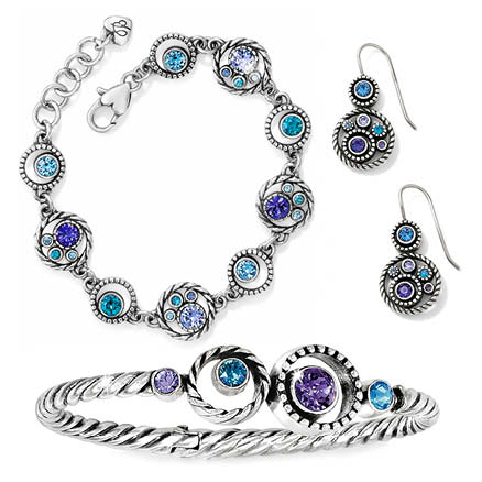 Halo bracelet and bangles with free earrings