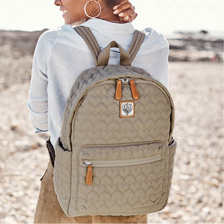 Heart to Heart backpack on model