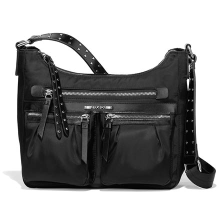 Austin Cross Body Hobo in Black