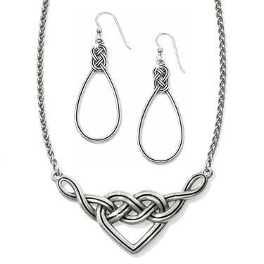 jewelry set with silver jewelry