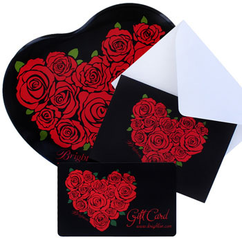 Beautifully wrapped gift cards