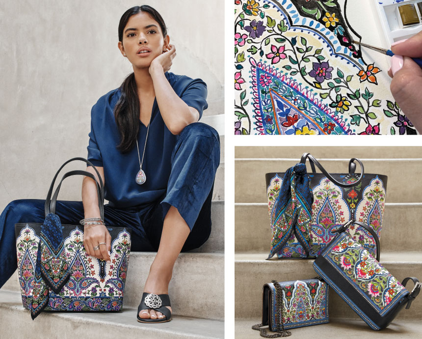 Floral Silhouettes for new India Collection Bags