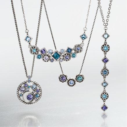 holiday-themed jewelry - snowflake sparkled necklaces