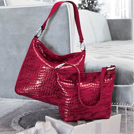 styled luxury gifts featuring red bag