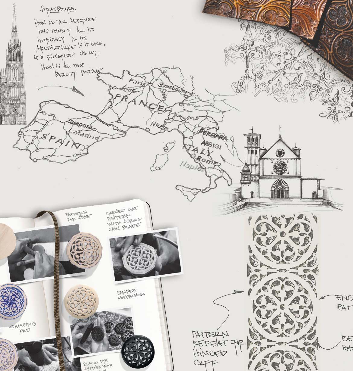 Background Image Of Different Ferrara Sketches And Insperations Sketches Of Churches