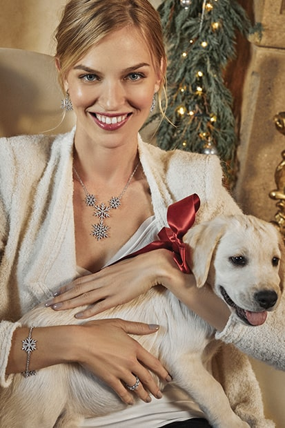 holiday lifestyle photo with Silver Sparkle jewelry
