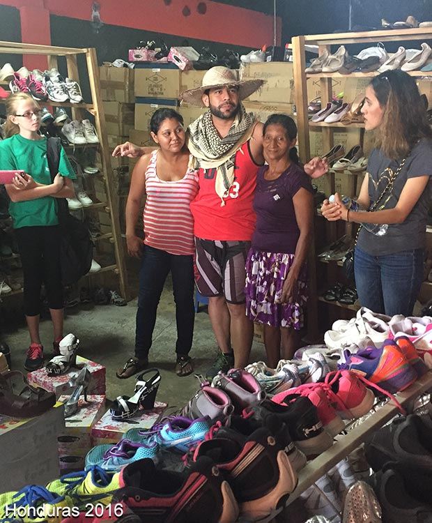 Brighton team delivering shoes in Honduras with Soles4Souls