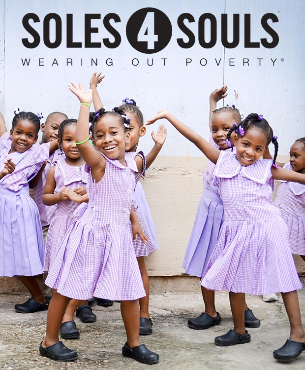 Soles4Soles wearing out poverly - photo of group of happy girls