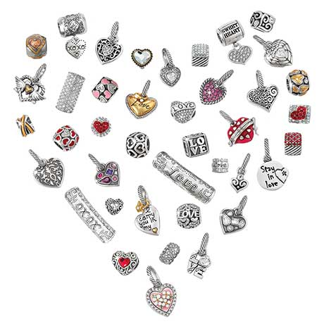 heart made up of beads and charms