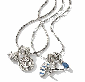 Wanda Fish Charm Necklace and Seagull Charm Necklace