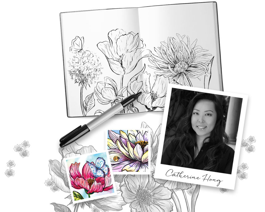 catherine hong art and photo of her