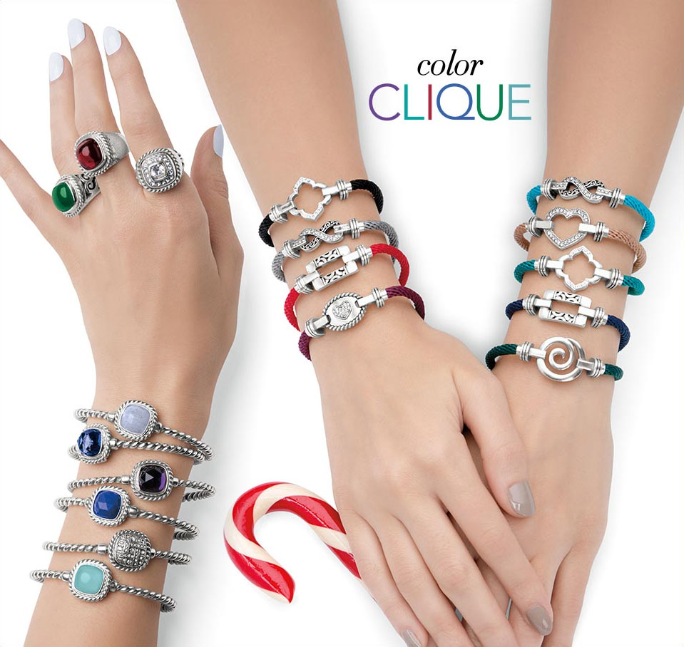Customizable jewelry from the Color Clique Collection