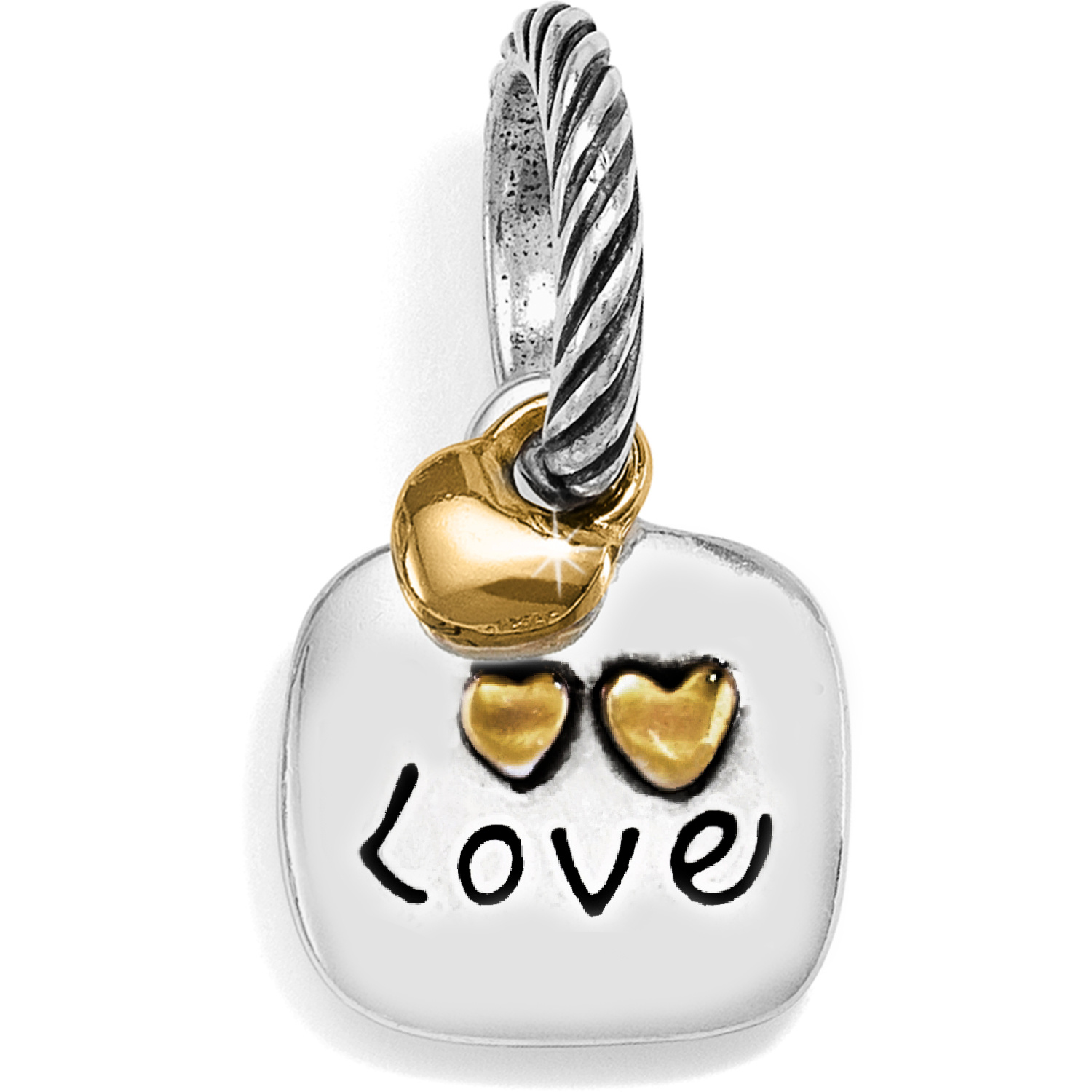Large White Enamel Baseball Family Charm Bead with You Are More Loved Bead Set of 2