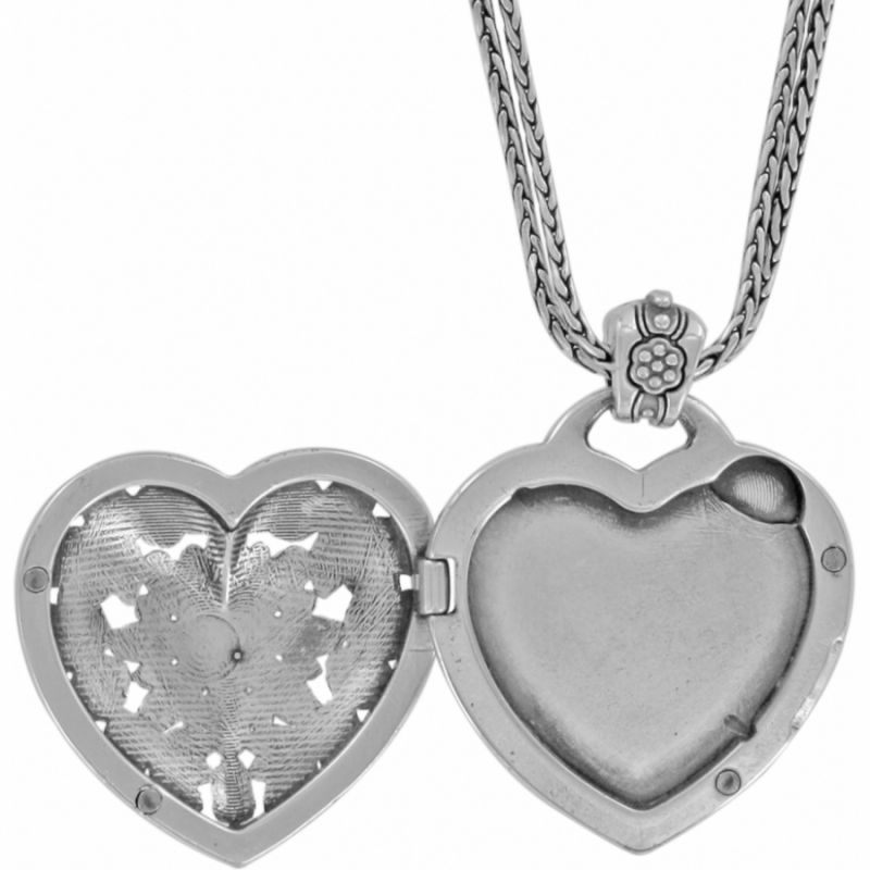 db6f78e7f5 Floral Heart Locket Necklace in Alternate View