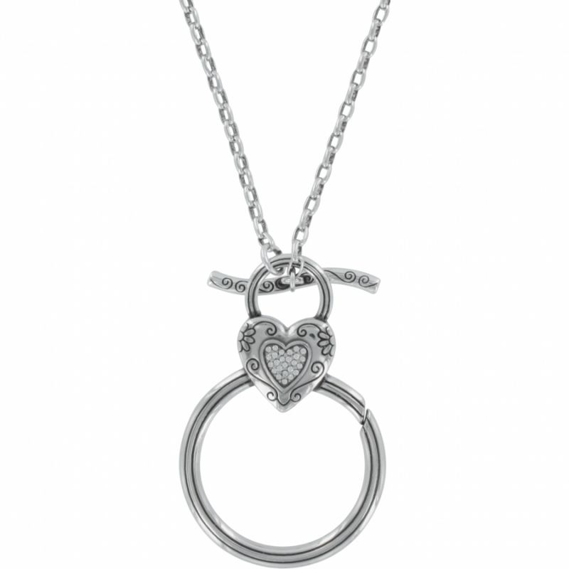 Enchante charm necklace charm holders for Brighton badge holder jewelry