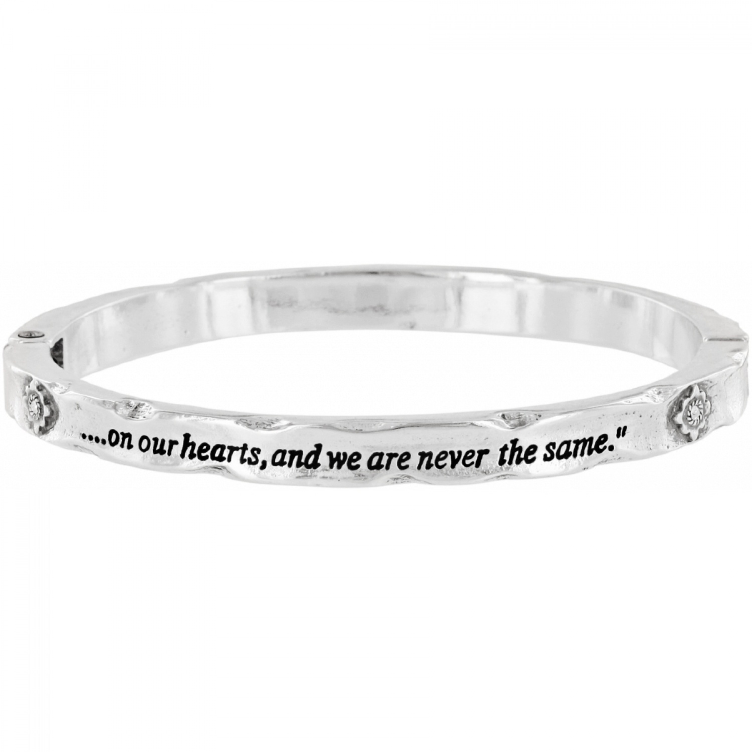 sentimental bangle The best Teachers teach from the heart - not from a book silver plated hAkZ9