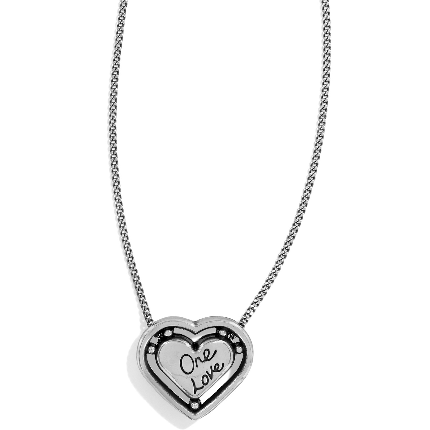 5f951edac9 One Love One Love Petite Heart Necklace Necklaces