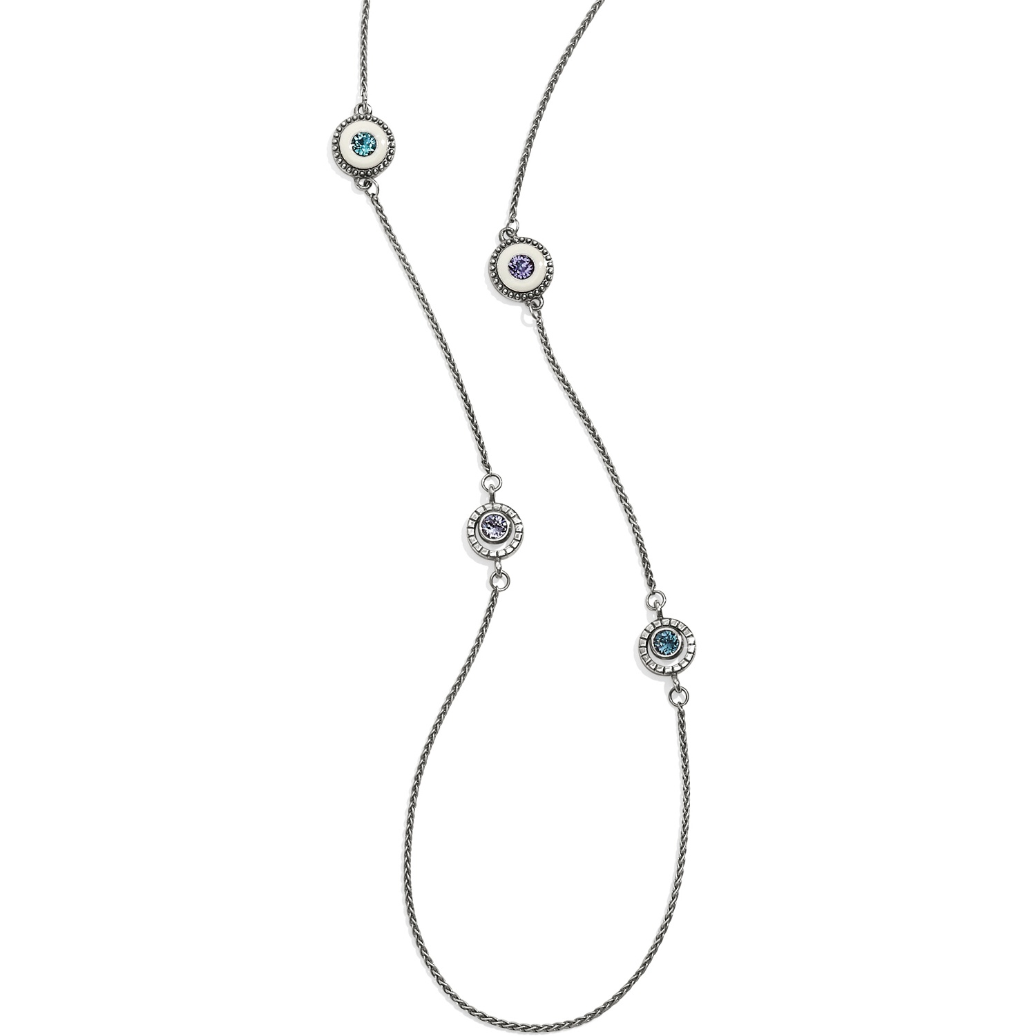 Halo Light Long Necklace SILVER-WHITE