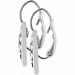 Contempo Heart Leverback Earrings