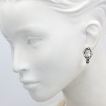 Pebble Pave Mini Post Drop Earrings