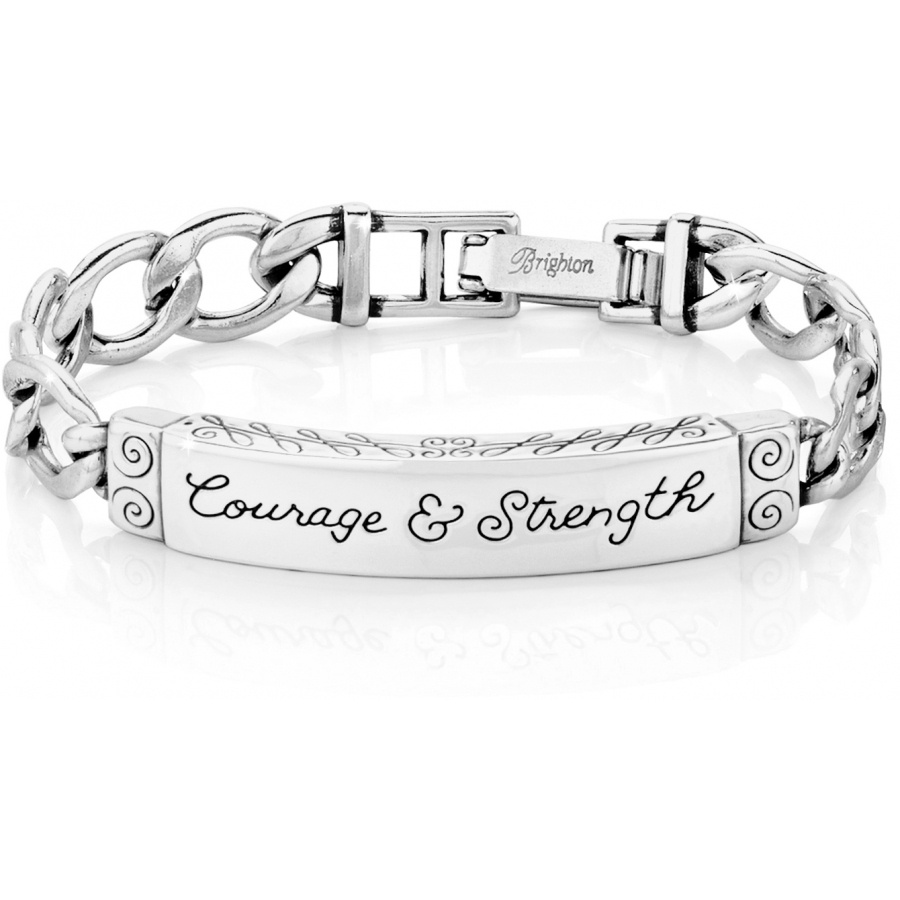 strength bracelet id bracelets courage strength id bracelet bracelets 7239